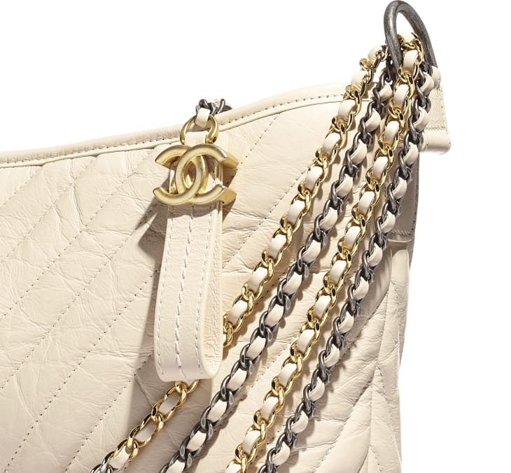 image 4 - CHANEL'S GABRIELLE  Large Hobo Bag - Aged Calfskin, Smooth Calfskin, Gold-Tone, Silver-Tone & Ruthenium-Finish Metal - Light Beige