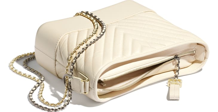 image 3 - CHANEL'S GABRIELLE  Large Hobo Bag - Aged Calfskin, Smooth Calfskin, Gold-Tone, Silver-Tone & Ruthenium-Finish Metal - Light Beige
