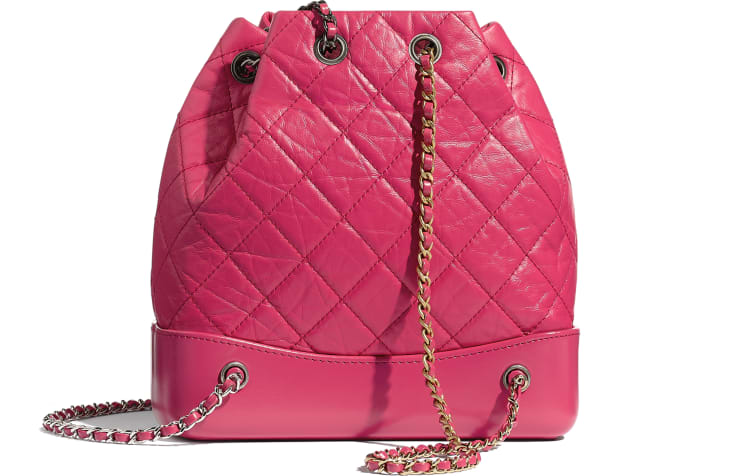 image 2 - CHANEL'S GABRIELLE Small Backpack - Aged Calfskin, Smooth Calfskin, Gold-Tone, Silver-Tone & Ruthenium-Finish Metal - Pink