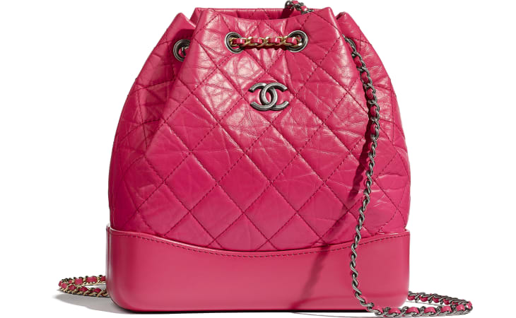 image 1 - CHANEL'S GABRIELLE Small Backpack - Aged Calfskin, Smooth Calfskin, Gold-Tone, Silver-Tone & Ruthenium-Finish Metal - Pink