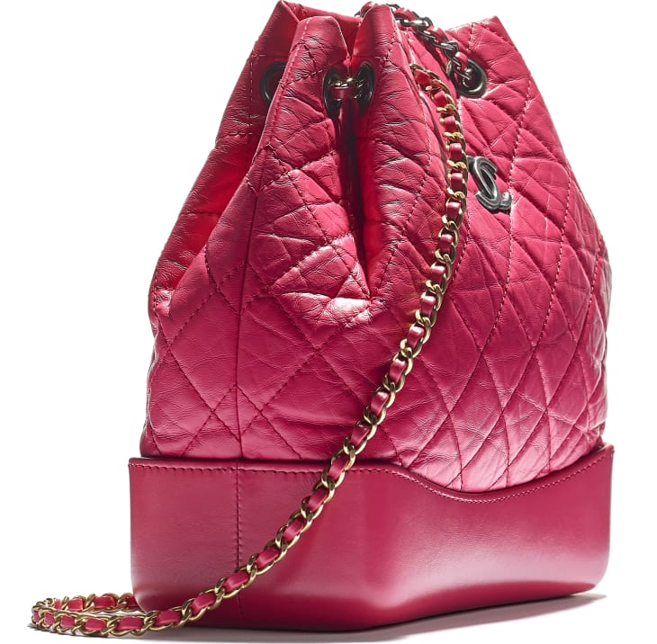 image 4 - CHANEL'S GABRIELLE Small Backpack - Aged Calfskin, Smooth Calfskin, Gold-Tone, Silver-Tone & Ruthenium-Finish Metal - Pink