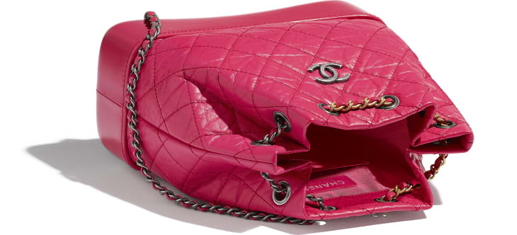 image 3 - CHANEL'S GABRIELLE Small Backpack - Aged Calfskin, Smooth Calfskin, Gold-Tone, Silver-Tone & Ruthenium-Finish Metal - Pink