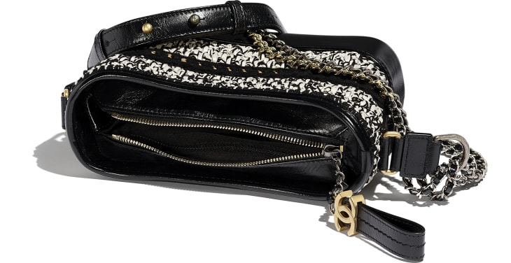 image 3 - CHANEL'S GABRIELLE  Small Hobo Bag - Mixed Fibers, Calfskin, Gold-Tone, Silver-Tone & Ruthenium-Finish Metal - Black & White