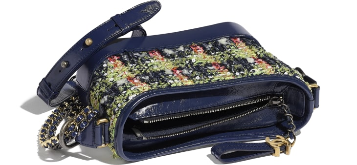 image 3 - CHANEL'S GABRIELLE  Small Hobo Bag - Tweed, Calfskin, Gold-Tone, Silver-Tone & Ruthenium-Finish Metal - Navy Blue, Green, Pink & White