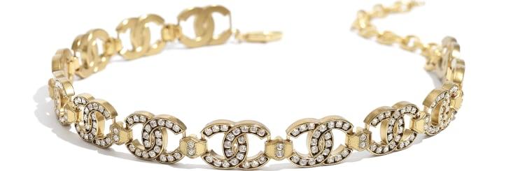 image 2 - Choker - Metal & Diamantés - Gold & Crystal