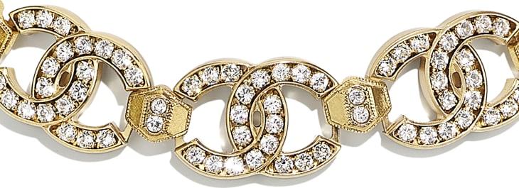image 3 - Choker - Metal & Diamantés - Gold & Crystal