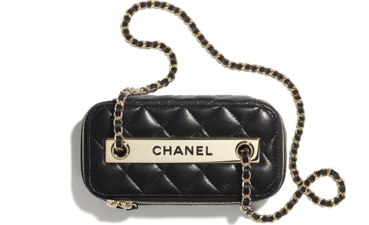 image 2 - Classic Box with Chain - Lambskin & Gold-Tone Metal - Black