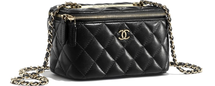 image 4 - Classic Box with Chain - Lambskin & Gold-Tone Metal - Black