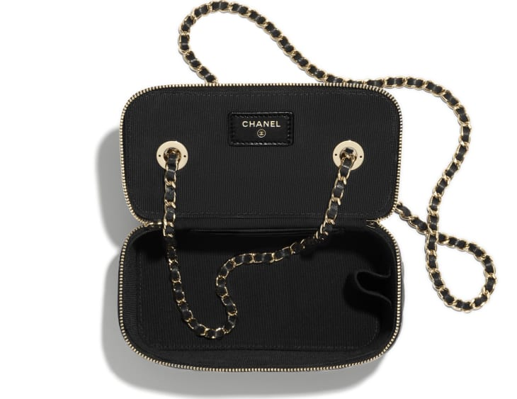 image 3 - Classic Box with Chain - Lambskin & Gold-Tone Metal - Black