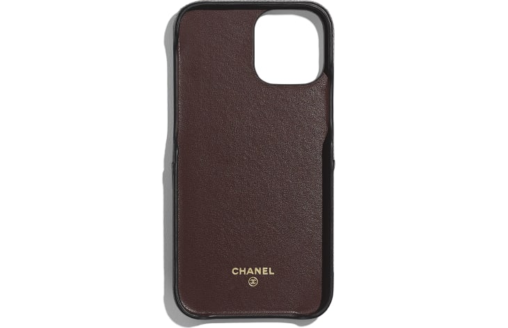 image 2 - iPhone 12 Pro MAX クラシック ケース - グレインド ラムスキン - ブラック