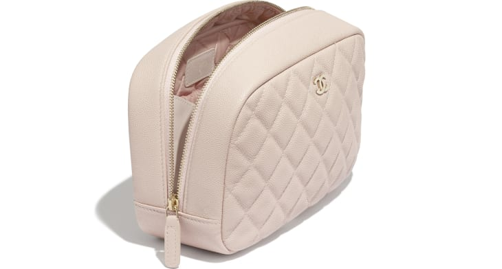 image 3 - Classic Case - Grained Calfskin & Gold-Tone Metal - Pale Pink