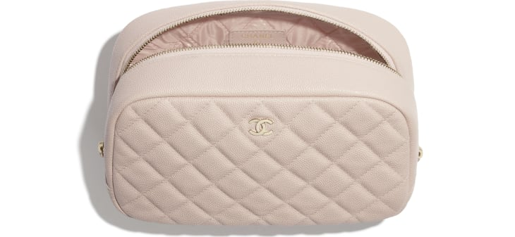 image 2 - Classic Case - Grained Shiny Calfskin & Gold-Tone Metal - Pale Pink