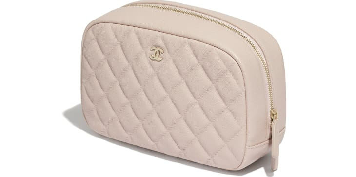 image 4 - Classic Case - Grained Shiny Calfskin & Gold-Tone Metal - Pale Pink