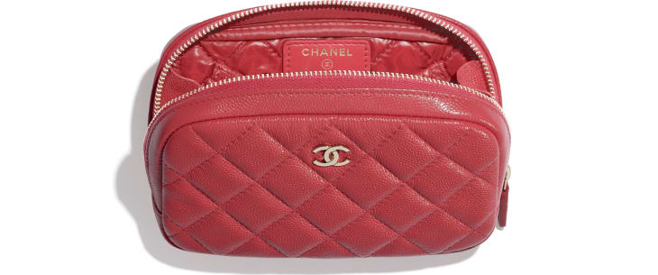 image 2 - Classic Case - Grained Calfskin & Gold-Tone Metal - Red