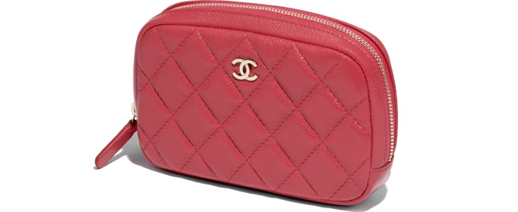 image 4 - Classic Case - Grained Calfskin & Gold-Tone Metal - Red