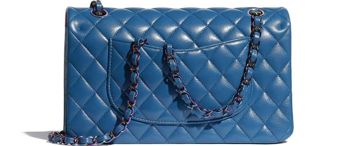 image 2 - Sac classique - Agneau & métal arc-en-ciel - Bleu