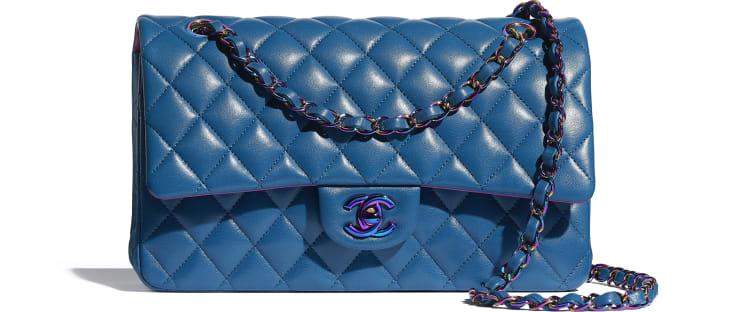 image 1 - Sac classique - Agneau & métal arc-en-ciel - Bleu