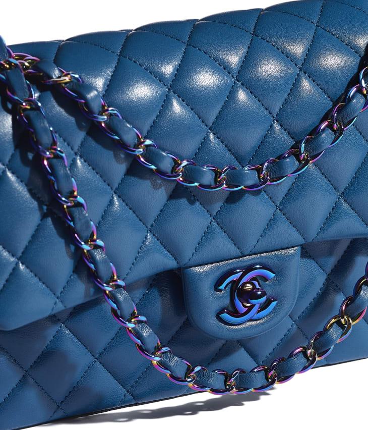 image 4 - Sac classique - Agneau & métal arc-en-ciel - Bleu