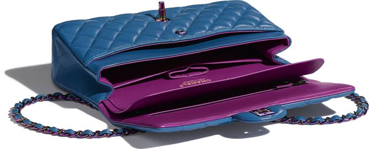 image 3 - クラシック ハンドバッグ - ラムスキン - ブルー