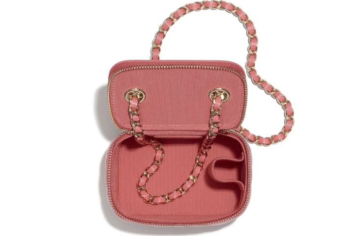 image 3 - Classic Small Vanity with Chain - Lambskin - Coral
