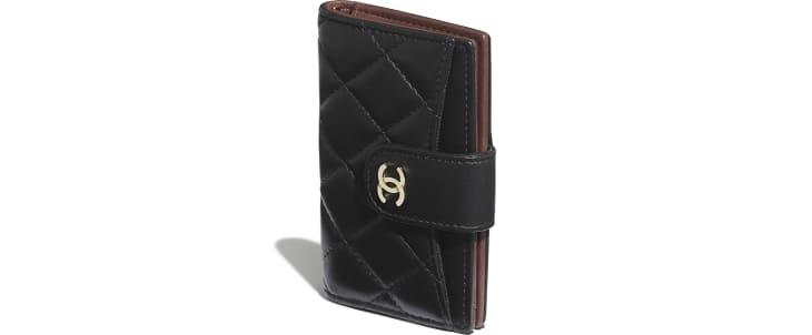 image 4 - Classic Small Wallet - Lambskin & Gold-Tone Metal - Black