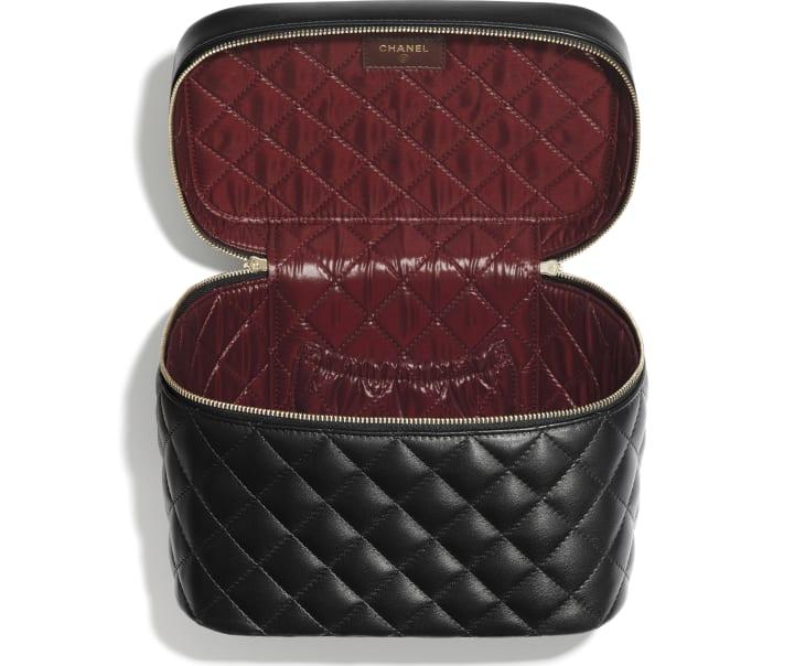 image 2 - Classic Vanity Pouch - Lambskin - Black