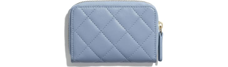 image 2 - Classic Zipped Coin Purse - Lambskin - Sky Blue