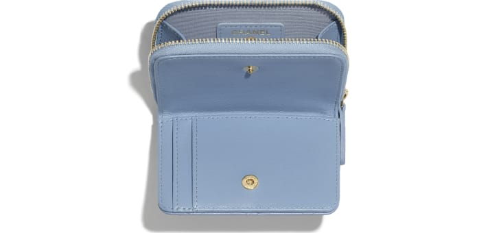 image 3 - Classic Zipped Coin Purse - Lambskin - Sky Blue
