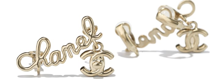 image 2 - Clip-on Earrings - Metal - Gold