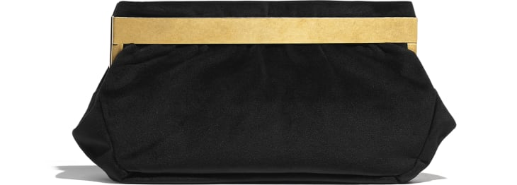 image 2 - Clutch - Velvet, Brass, Charms & Gold-Tone Metal - Black
