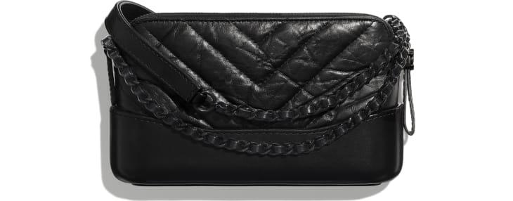image 2 - Clutch Com Corrente - Couro de novilho envelhecido, couro de novilho macio & metal preto - Preto