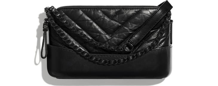 image 1 - Clutch Com Corrente - Couro de novilho envelhecido, couro de novilho macio & metal preto - Preto