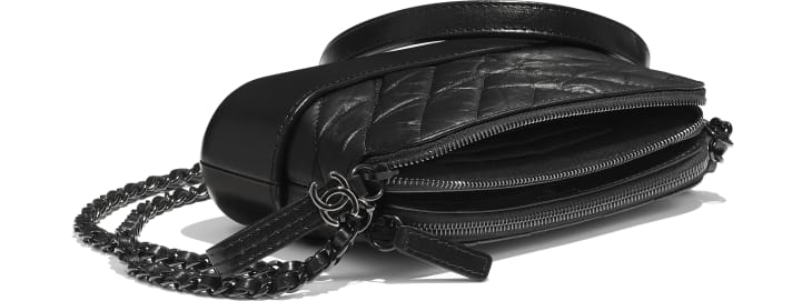 image 4 - Clutch Com Corrente - Couro de novilho envelhecido, couro de novilho macio & metal preto - Preto