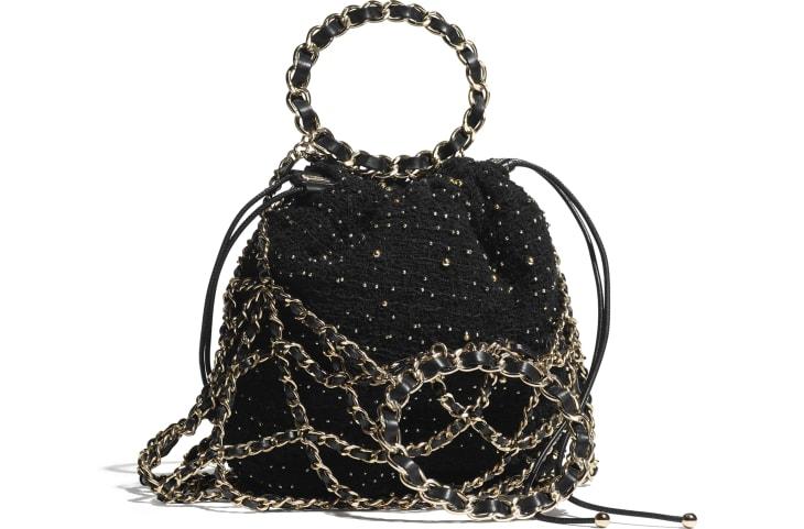 image 2 - ハンドバッグ - ツイード - ブラック