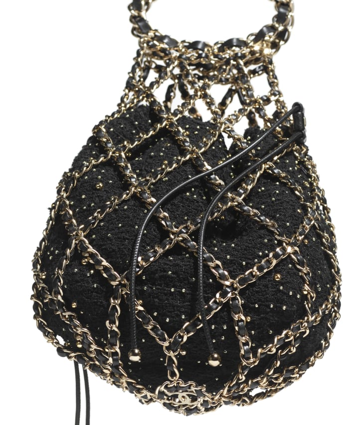 image 4 - ハンドバッグ - ツイード - ブラック
