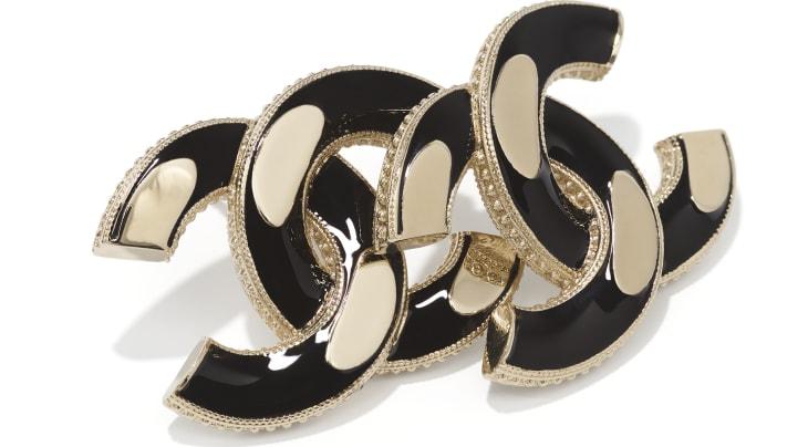 image 2 - Earrings - Metal - Gold & Black