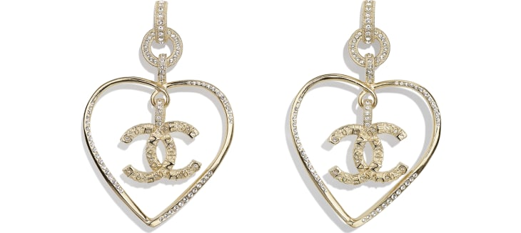 image 1 - Earrings - Metal & Strass - Gold & Crystal