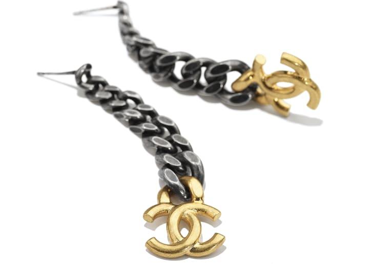 image 2 - Boucles d'oreilles - Métal - Doré & ruthénium