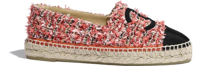 image 1 - Espadrilles - Tweed & Gorgorão - Coral, Vermelho, Rosa & Preto