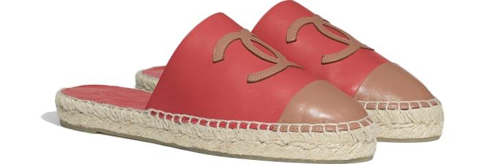 image 2 - Espadrilles - Lambskin - Red & Brown