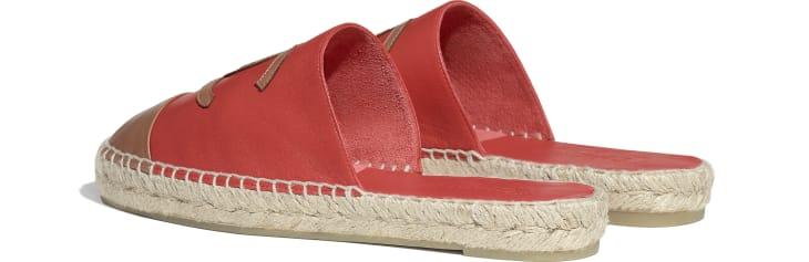 image 3 - Espadrilles - Lambskin - Red & Brown