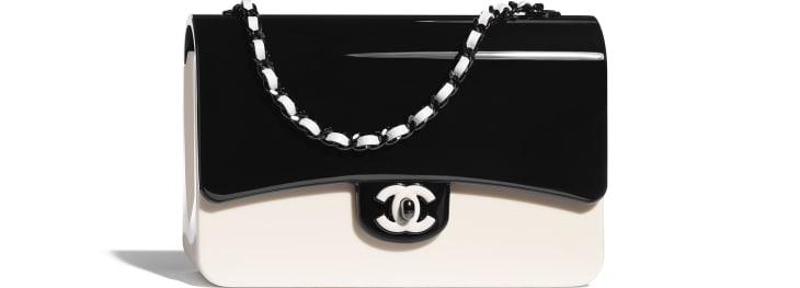 image 1 - Sac du soir - Plexi & métal noir - Noir & blanc