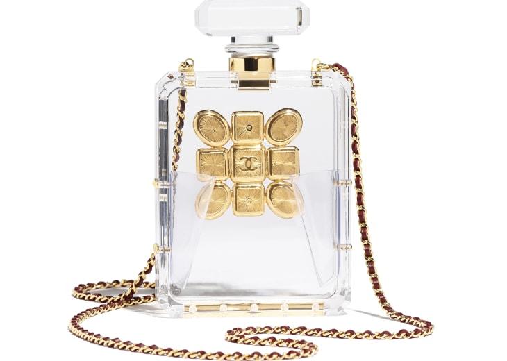 image 2 - Bolsa De Noite - Resina, Esmalte & Metal Dourado - Transparente, Vermelho & Verde
