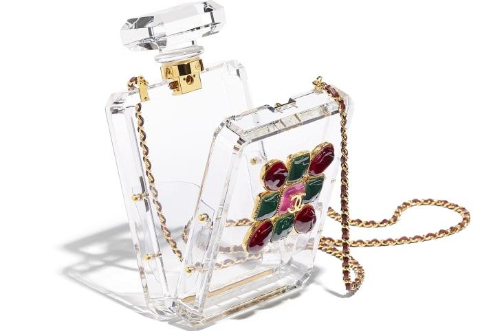image 3 - Bolsa De Noite - Resina, Esmalte & Metal Dourado - Transparente, Vermelho & Verde