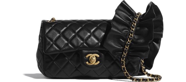 image 1 - Flap Bag - Lambskin - Black