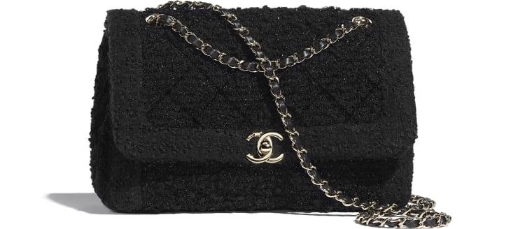 image 1 - Bolsa - Tweed & Metal Dourado - Preto