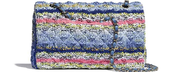 image 2 - Flap Bag - Knit & Gold-Tone Metal - Multicolour