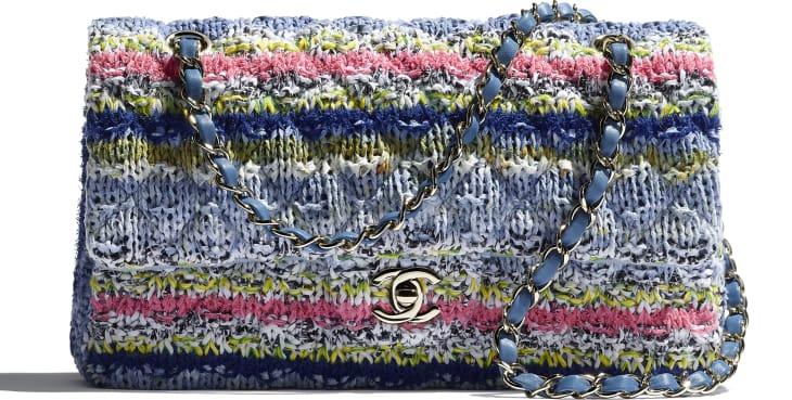 image 4 - Flap Bag - Knit & Gold-Tone Metal - Multicolour