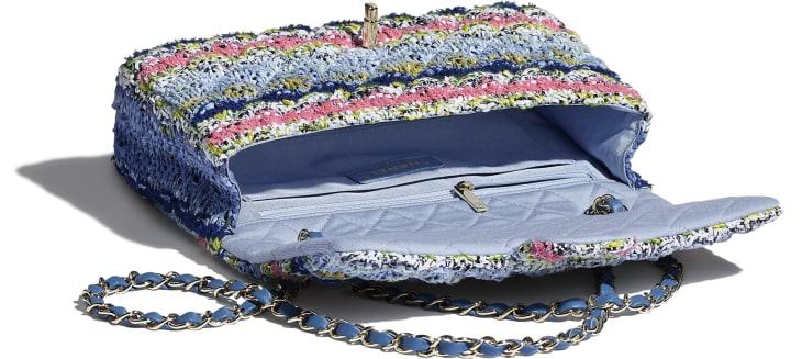 image 3 - Flap Bag - Knit & Gold-Tone Metal - Multicolour