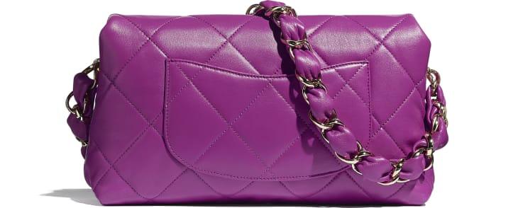 image 2 - Flap Bag - Lambskin - Purple